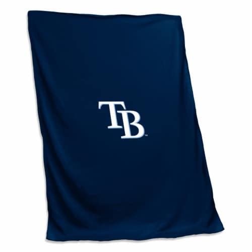 Tampa Bay Rays Sweatshirt Blanket Perspective: front