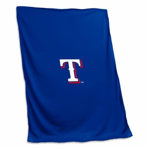 Texas Rangers Sweatshirt Blanket Perspective: front