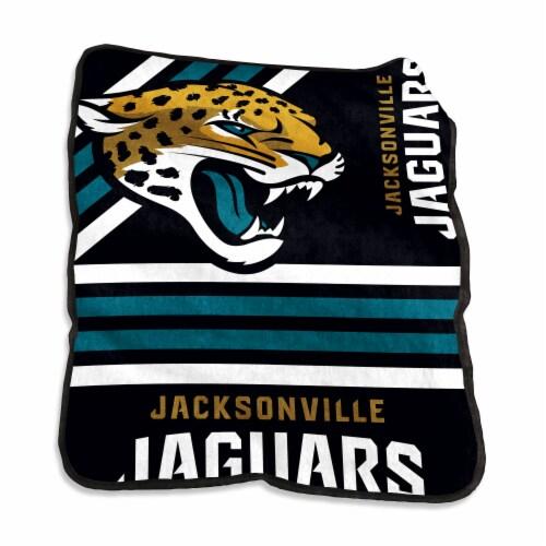 Jacksonville Jaguars Raschel Throw Blanket Perspective: front