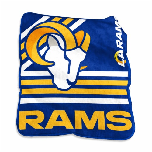 Los Angeles Rams Raschel Throw Blanket Perspective: front