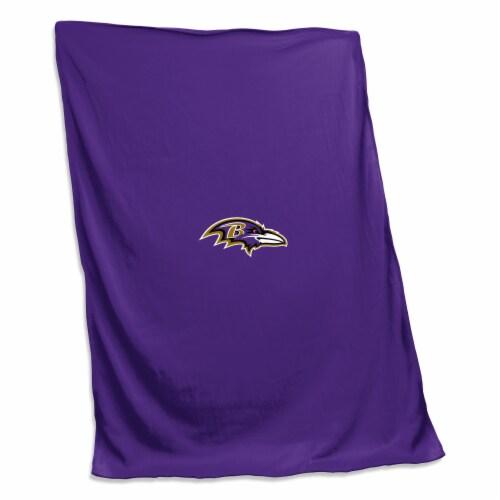 Baltimore Ravens Sweatshirt Blanket Perspective: front