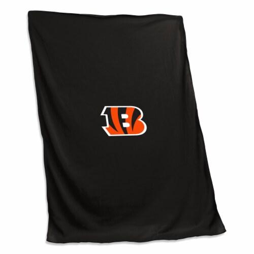 Cincinnati Bengals Sweatshirt Blanket Perspective: front