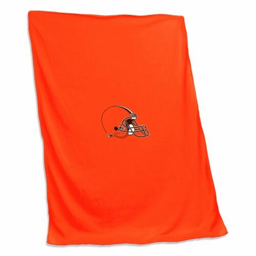 Cleveland Browns Sweatshirt Blanket Perspective: front