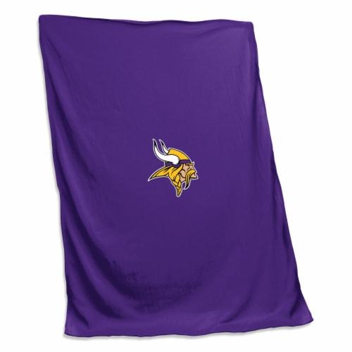 Minnesota Vikings Sweatshirt Blanket Perspective: front
