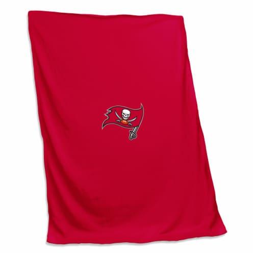 Tampa Bay Buccaneers Sweatshirt Blanket Perspective: front