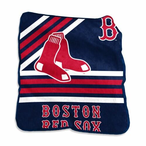 Boston Red Sox Raschel Throw Blanket Perspective: front