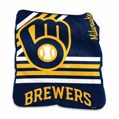 Milwaukee Brewers Raschel Throw Blanket Perspective: front