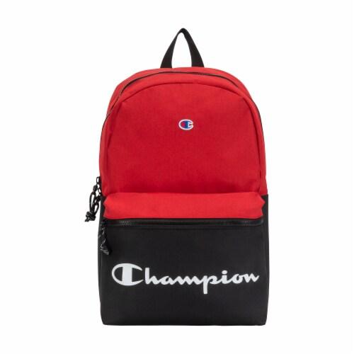 Champion Manuscript Backpack - Red/Black Perspective: front