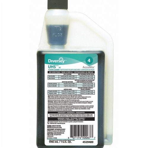 Diversey Floor Cleaner,Ammonia,32 oz.,PK6  94529489 Perspective: front
