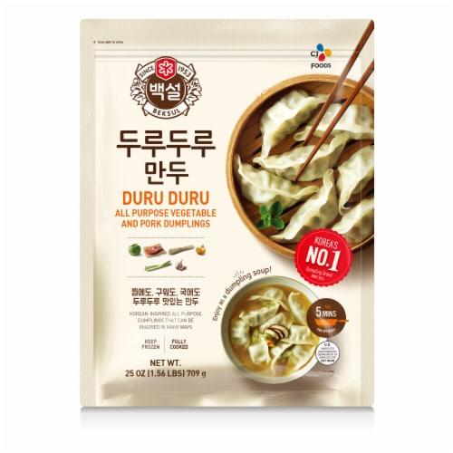 CJ Bibigo Duru Duru Vegetable & Pork Dumplings Frozen Appetizer Perspective: front