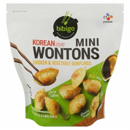 CJ Bibigo Mini Wontons Chicken & Vegetable Perspective: front