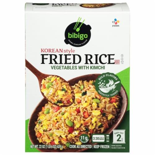 CJ Bibigo Vegetable Kimchi Korean Fried Rice Perspective: front