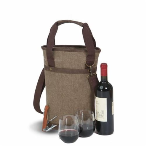 Picnic Plus Omega Single Bottle Bag  Brown Perspective: front