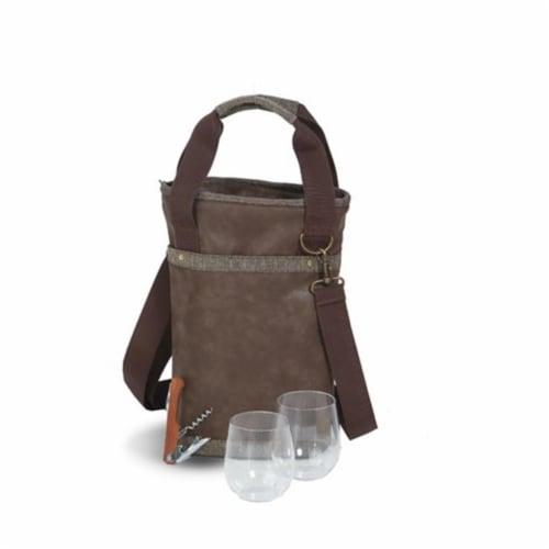 Picnic Plus Omega Single Bottle Bag  Espresso Perspective: front