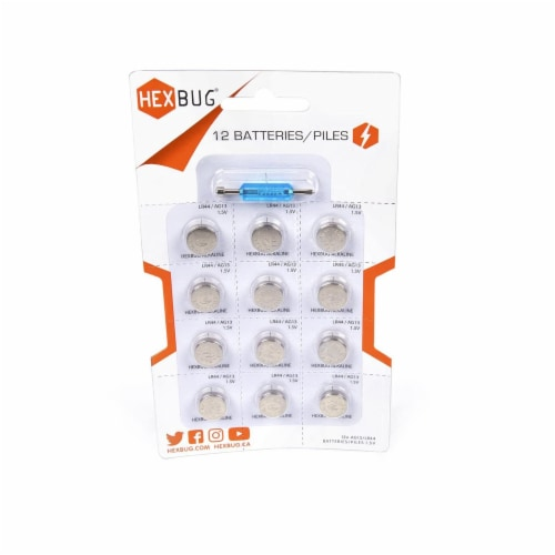 Hexbug Alkaline LR44/AG13 Battery Perferrated Pack Perspective: front