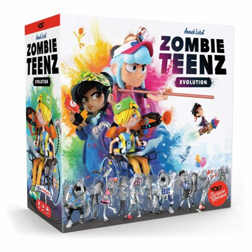 Zombie Teenz Evolution Board Game Perspective: front