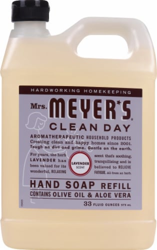 Mrs. Meyer's Clean Day Lavender Hand Soap Refill Perspective: front