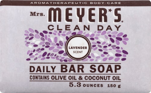 Mrs. Meyer's Clean Day Lavender Bar Soap Perspective: front