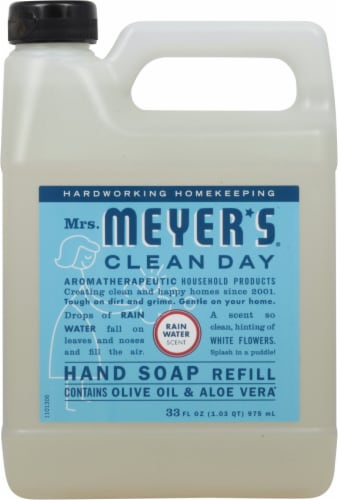 Mrs. Meyer's Clean Day Rain Water Hand Soap Refill Perspective: front