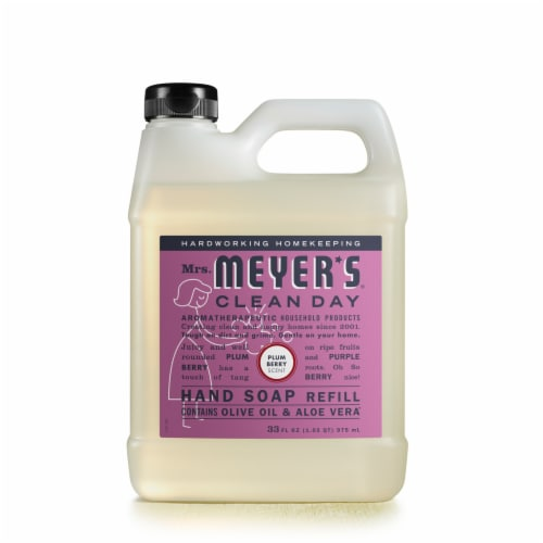 Mrs. Meyer's Clean Day Plum Berry Hand Soap Refill Perspective: front