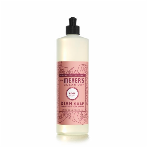 Mrs. Meyer's Clean Day Rose Scent Dish Soap Perspective: front
