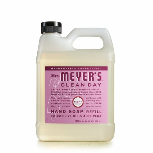Mrs. Meyer's Clean Day Peony Hand Soap Refill Perspective: front