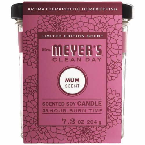 Mrs. Meyer's Mum Soy Candle Perspective: front