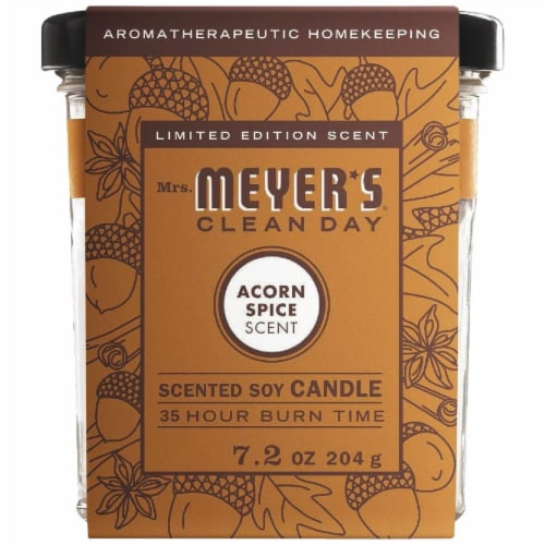 Mrs. Meyer's Acorn Spice Soy Candle Perspective: front