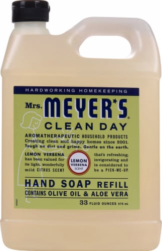 Mrs. Meyer's Clean Day Lemon Verbena Hand Soap Refill Perspective: front