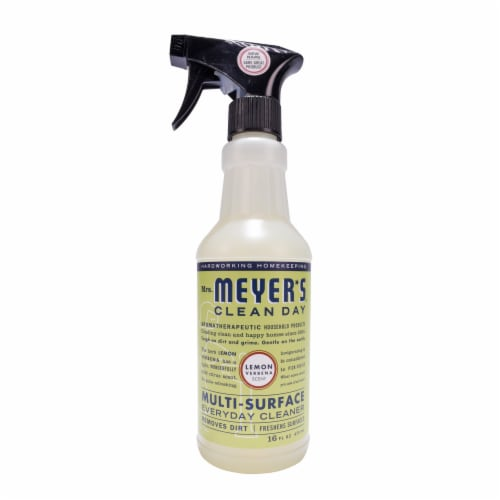Mrs. Meyer's Clean Day Lemon Verbana Scent Multi-Surface Everyday Cleaner Perspective: front