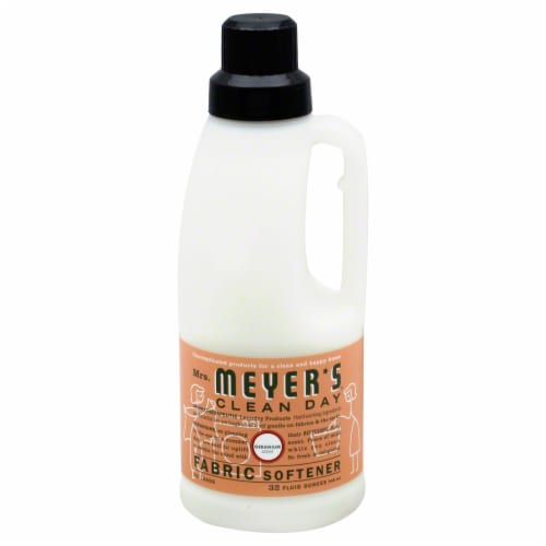 Mrs. Meyer's Clean Day Geranium Liquid Fabric Softener Perspective: front