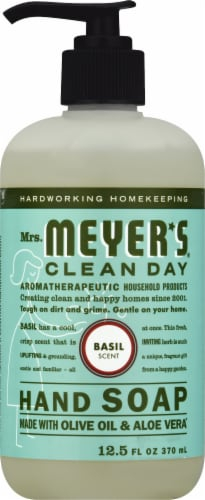 Mrs. Meyer's Clean Day Basil Liquid Hand Soap Perspective: front