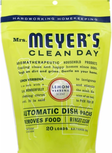 Mrs. Meyer's Lemon Verbena Automatic Dishwasher Packs Perspective: front