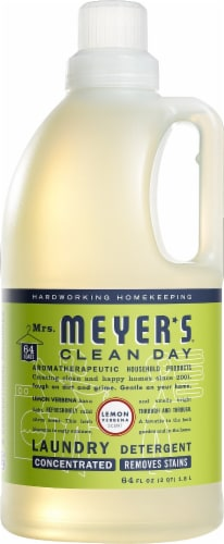 Mrs. Meyer's Clean Day Lemon Verbena Scent Laundry Detergent Perspective: front