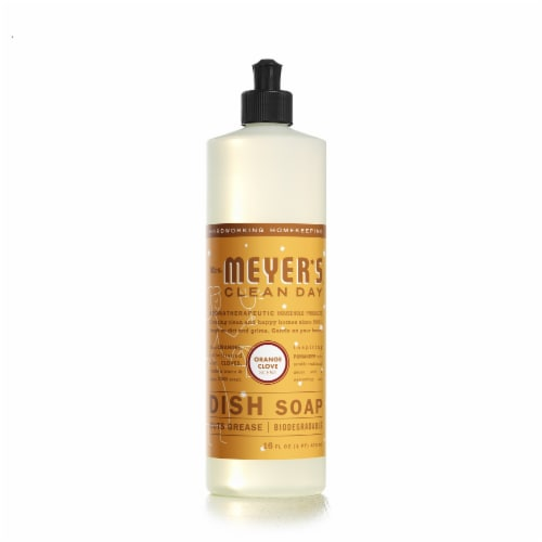 Mrs. Meyer's Clean Day Orange Clove Dish Soap Perspective: front