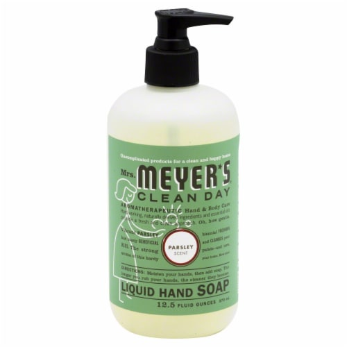 Mrs. Meyer's Clean Day Parsley Liquid Hand Soap Perspective: front