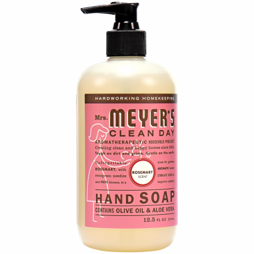 Mrs. Meyers Liquid Hand Soap Rosemary Perspective: front