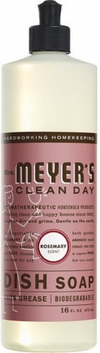 Mrs. Meyers Liquid Dish Soap Rosemary Perspective: front