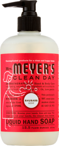 Mrs. Meyer's Clean Day Rhubarb Liquid Hand Soap Perspective: front