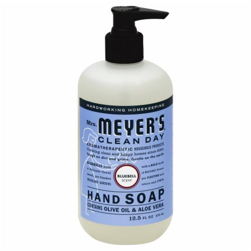 Mrs. Meyers Bluebell Liquid Hand Soap Perspective: front