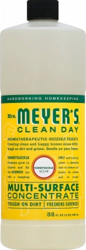 Mrs. Meyer's Clean Day Honeysuckle Scent Multi-Surface Concentrate Perspective: front