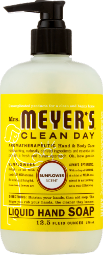 Mrs. Meyers Sunflower Liquid Hand Soap Perspective: front