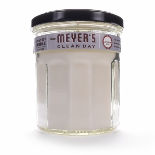 Mrs. Meyer's Lavender Soy Candle Perspective: front