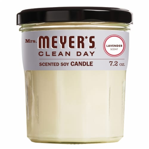 Mrs. Meyer's Clean Day Lavender Scent Soy Candle - White Perspective: front