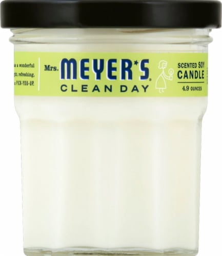 Mrs. Meyer's Verbena Soy Scented Candle - Lemon Perspective: front