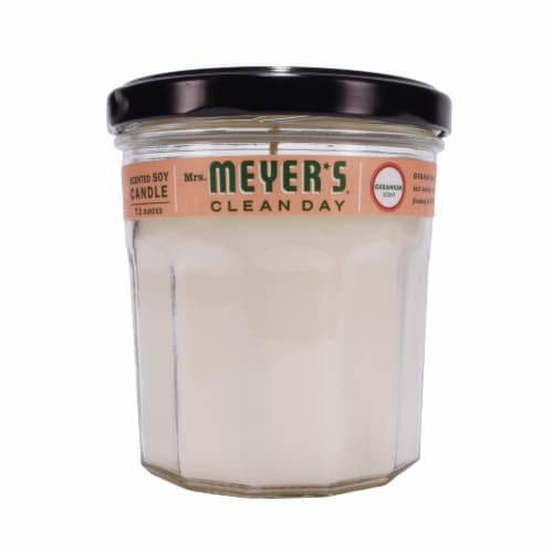 Mrs. Meyer's Geranium Soy Candle Perspective: front