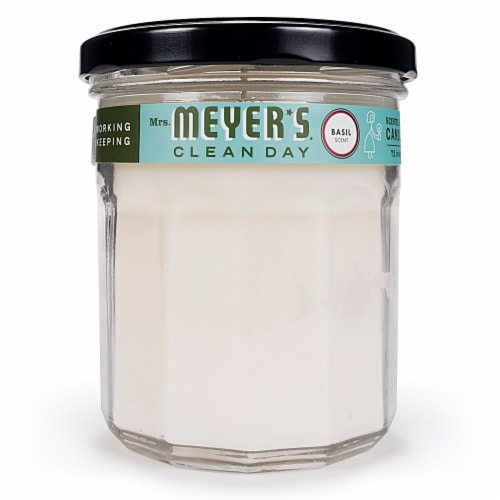 Mrs. Meyer's Soy Candle Basil Perspective: front