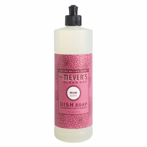 Mrs. Meyer's Clean Day Mum Scent Dish Soap Perspective: front