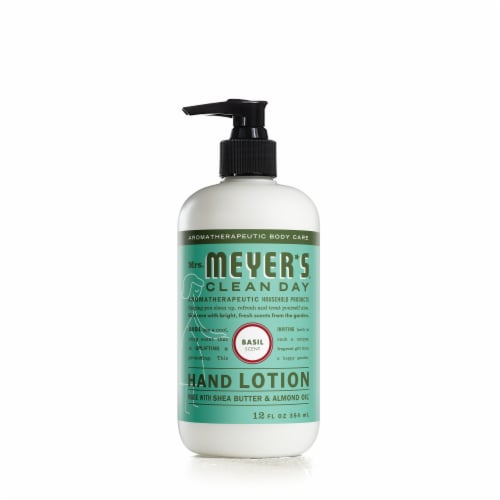 Mrs. Meyer's Clean Day 12 Oz. Basil Hand Lotion 70247 Perspective: front