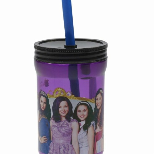 DDI 2332565 Descendants Tumbler Jar Tumbler with Straw - Purple, Case of 6 Perspective: front